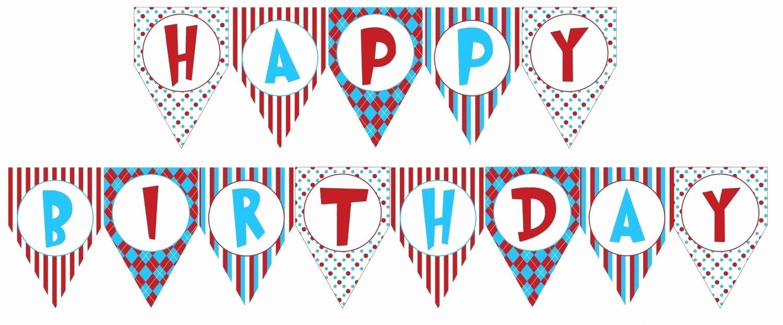 Free Happy Birthday Templates Fresh Birthday Banner Printable Templates
