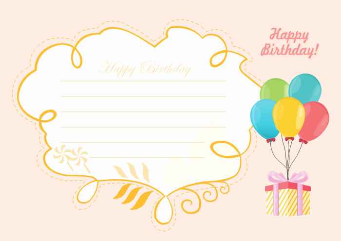 Free Happy Birthday Templates Fresh Free Editable and Printable Birthday Card Templates