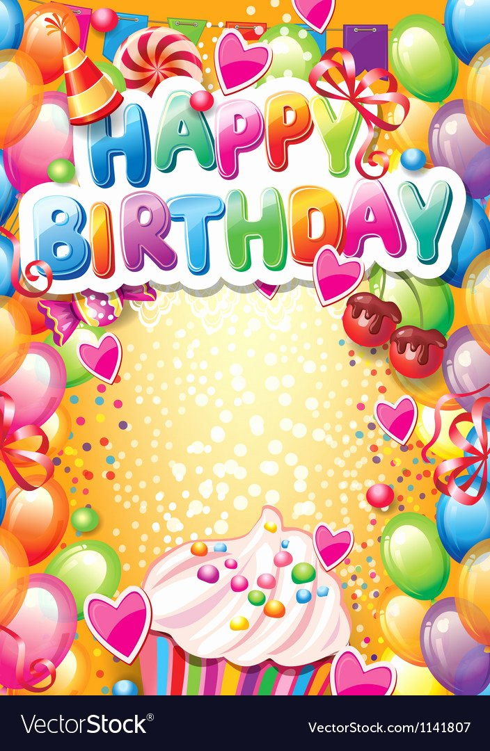Free Happy Birthday Templates Fresh Template for Happy Birthday Card with Place for Vector Image