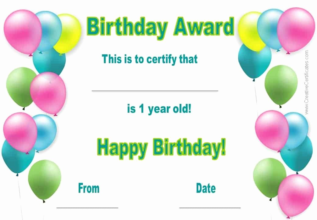 Free Happy Birthday Templates Unique Free Happy Birthday Certificate Template Customize Line