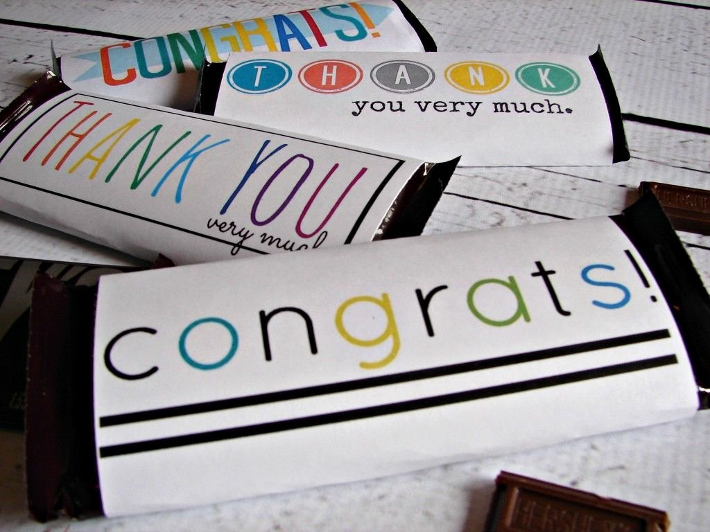 Free Hershey Bar Wrapper Template New Free Candy Bar Wrapper Thank You and Congrats Printables