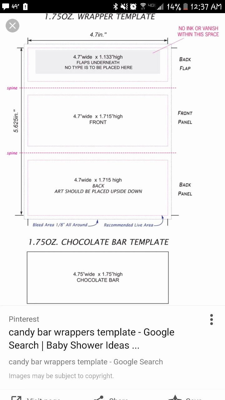 Free Hershey Bar Wrapper Template Unique Pin by Kelly Schnetzer On Nani & Papa S 60th