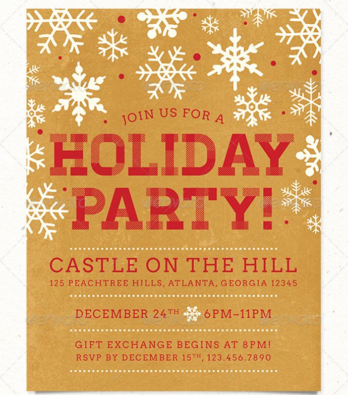 Free Holiday Party Templates Beautiful 30 Christmas Holiday Psd & Ai Flyer Templates