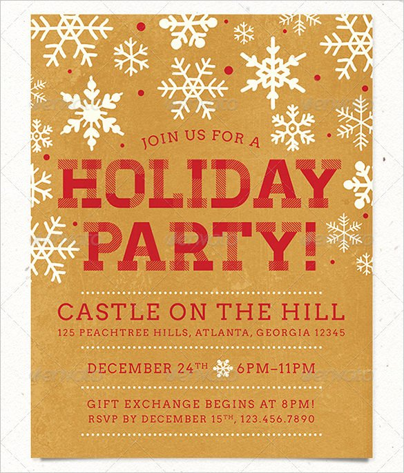 Free Holiday Party Templates Best Of 27 Holiday Party Flyer Templates Psd