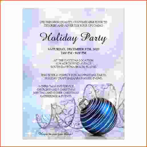 Free Holiday Party Templates Elegant 5 Holiday Flyer Templates Free Bookletemplate