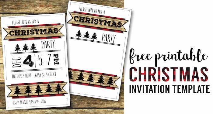 Free Holiday Party Templates Elegant Christmas Party Invitation Templates Free Printable
