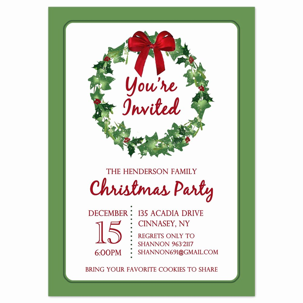 Free Holiday Party Templates Inspirational Downloadable Christmas Invitation