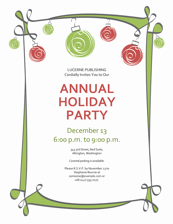 Free Holiday Party Templates Lovely Free Printable Christmas Invitations Template