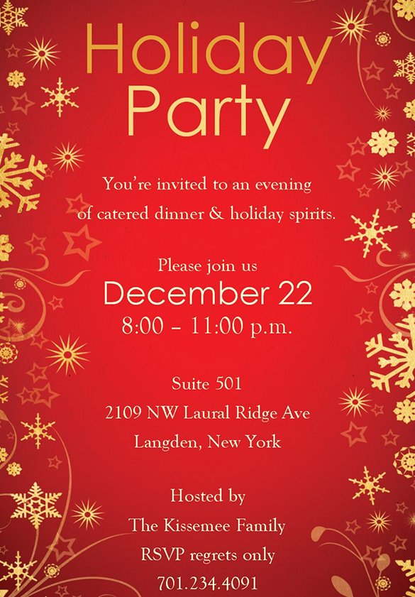 Free Holiday Party Templates Lovely Holiday Invitation Template – 17 Psd Vector Eps Ai Pdf