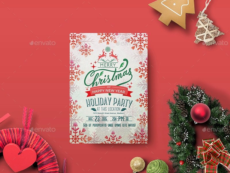 Free Holiday Party Templates Luxury 9 Holiday Party Flyers Free Editable Psd Ai Vector