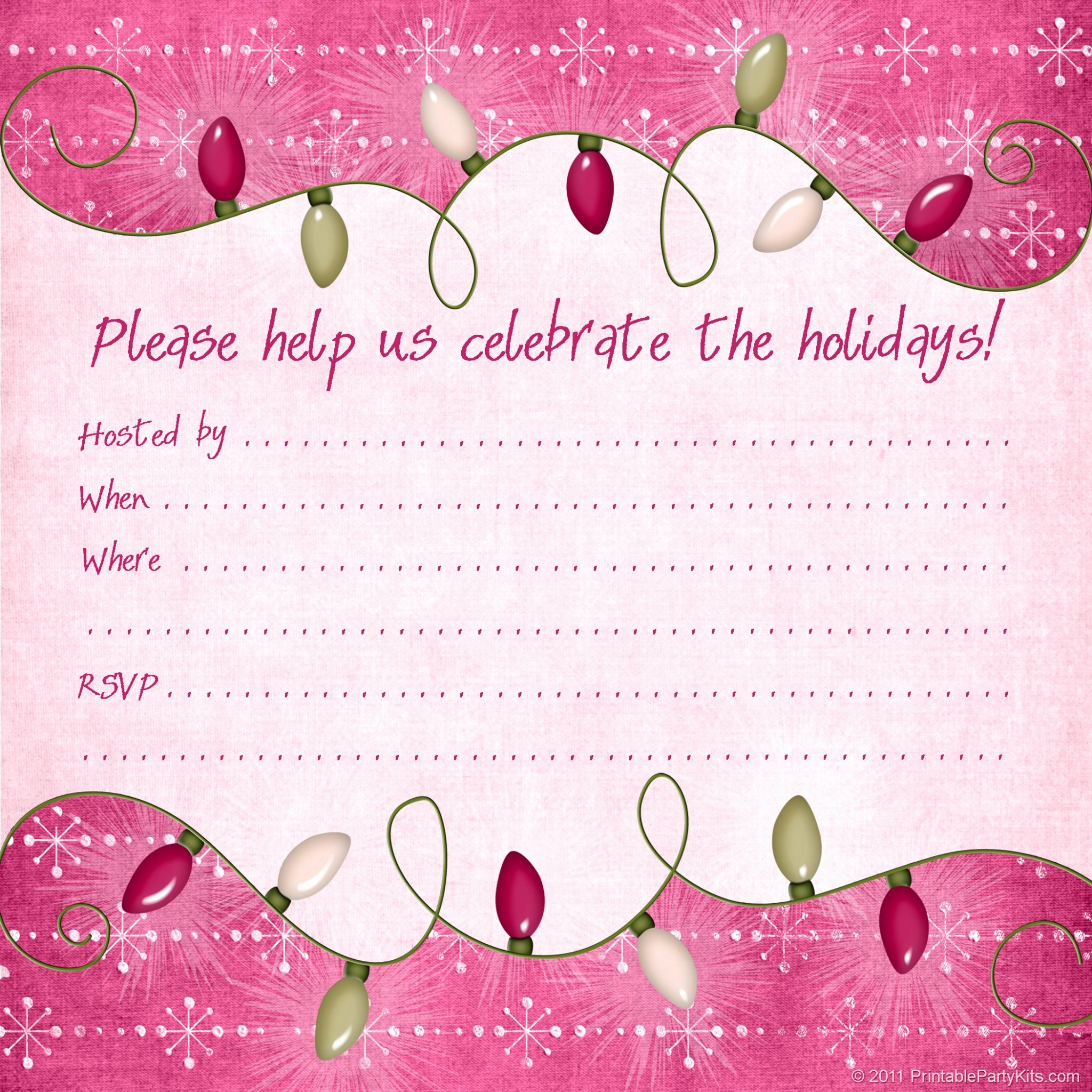 Free Holiday Party Templates Luxury Christmas