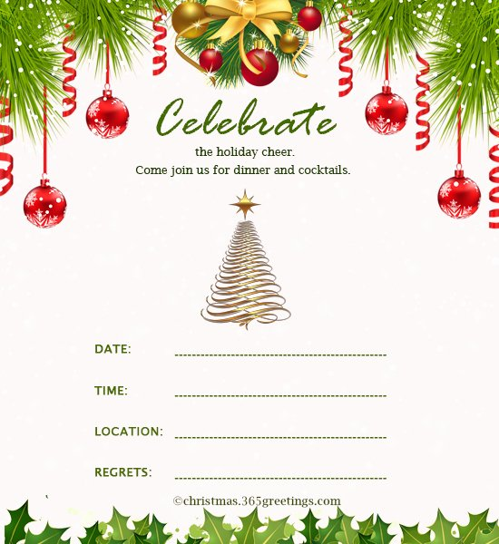 Free Holiday Party Templates New Christmas Invitation Template and Wording Ideas