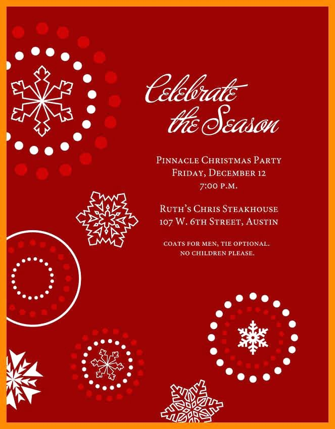 Free Holiday Party Templates New Free Holiday Party Invitation Templates Word