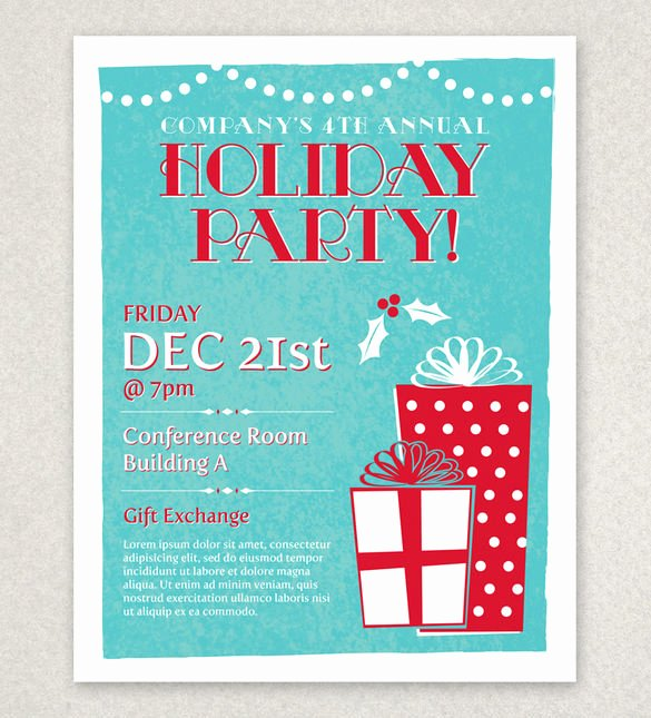 Free Holiday Party Templates Unique 27 Holiday Party Flyer Templates Psd