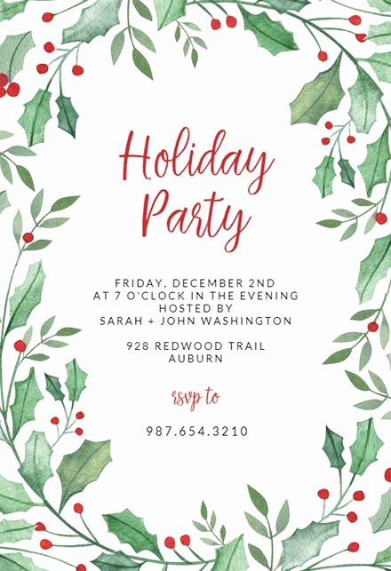 Free Holiday Party Templates Unique Christmas Party Invitation Templates Free