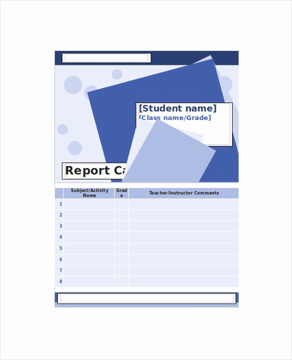 Free Homeschool Report Card Template Beautiful Homeschool Report Card Template 6 Download Documents In