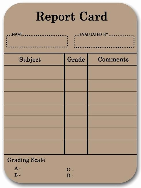 Free Homeschool Report Card Template Best Of 17 Best Images About Report Cards On Pinterest