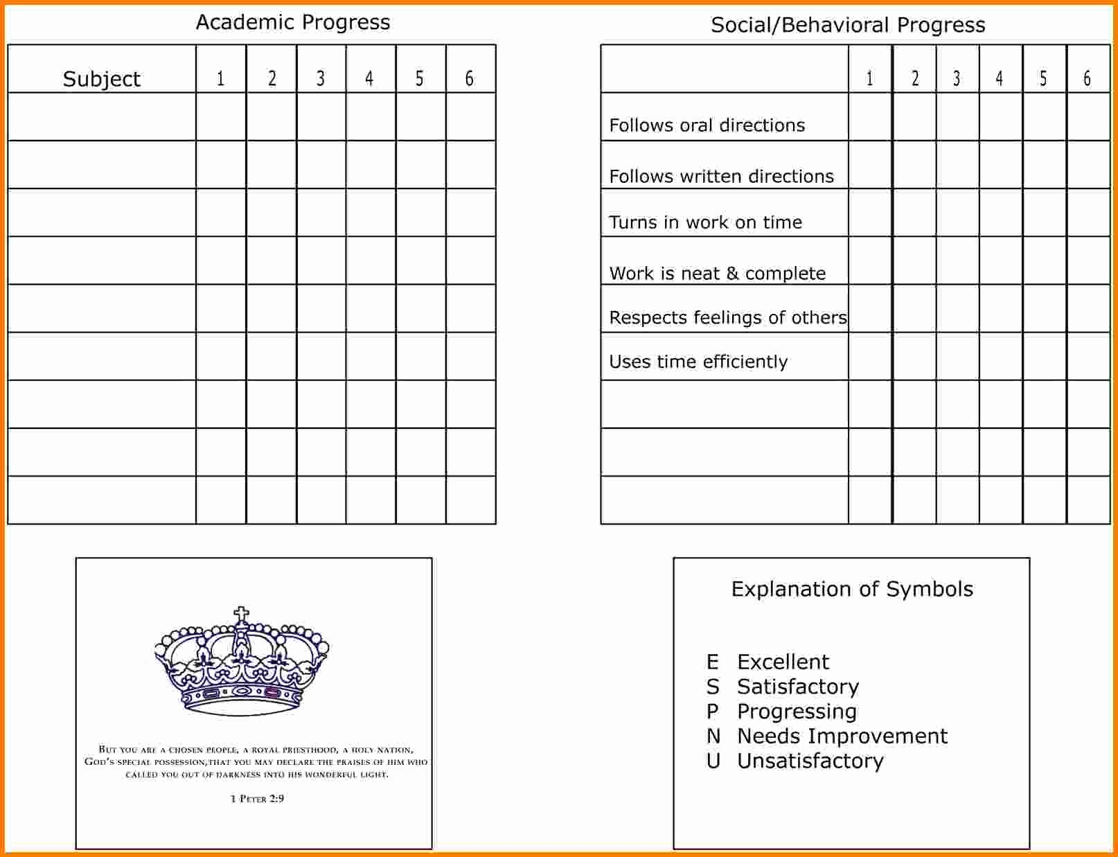 Free Homeschool Report Card Template Best Of 7 Homeschool Report Card Template