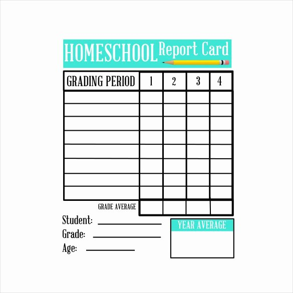 Free Homeschool Report Card Template Fresh Sample Homeschool Report Card 7 Documents In Pdf Word