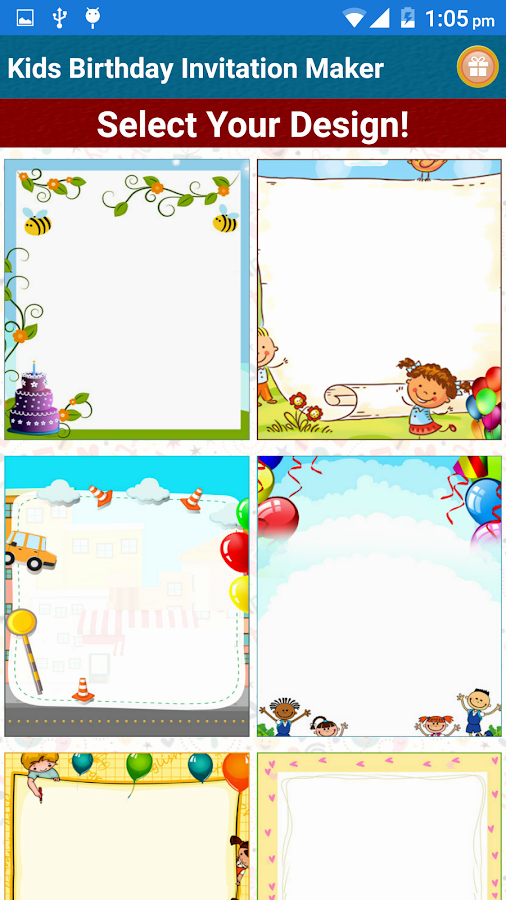 Free Invitation Maker App Beautiful Kids Birthday Invitation Maker android Apps On Google Play