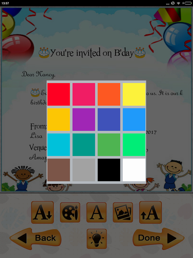Free Invitation Maker App Elegant Kids Birthday Invitation Maker android Apps On Google Play