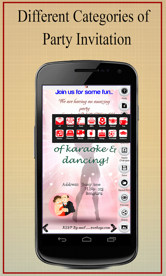 Free Invitation Maker App Elegant Party Invitation Card Maker android Apps On Google Play