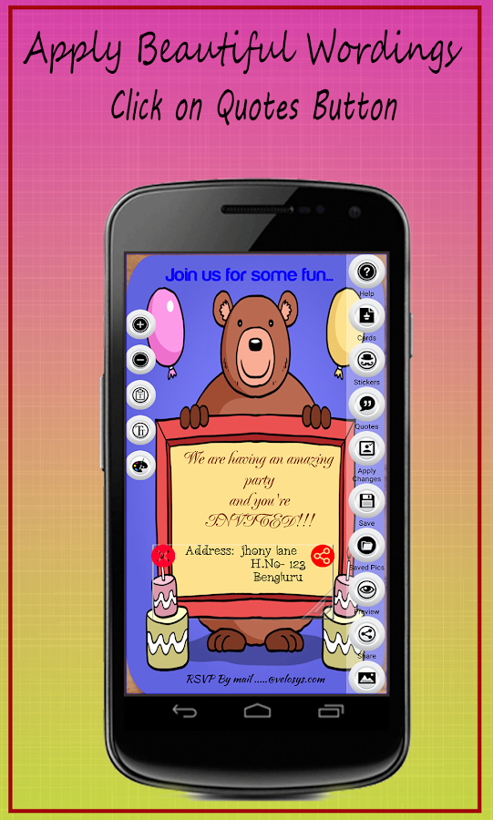 Free Invitation Maker App Lovely Party Invitation Card Maker android Apps On Google Play