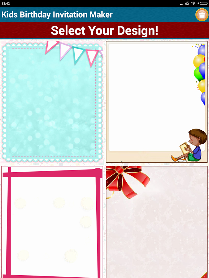 Free Invitation Maker App Unique Kids Birthday Invitation Maker android Apps On Google Play