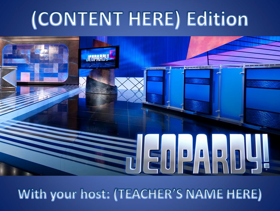 Free Jeopardy Powerpoint Template Awesome 11 Best Free Jeopardy Templates for the Classroom