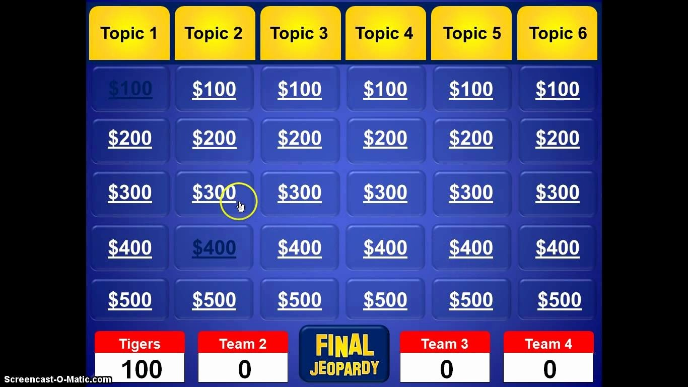 Free Jeopardy Powerpoint Template Best Of Free Jeopardy Template