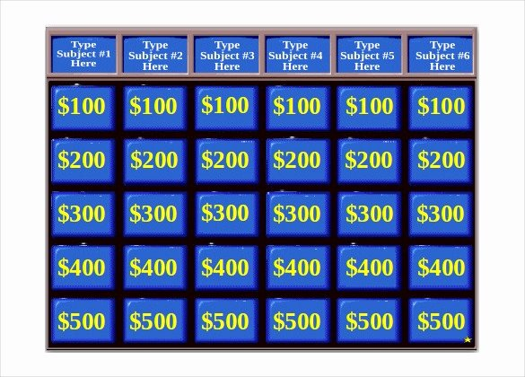 Free Jeopardy Powerpoint Template Unique Jeopardy Game Template
