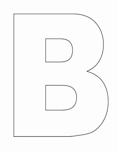 Free Large Printable Letters Awesome Best S Of Letter Templates Printable Letter B
