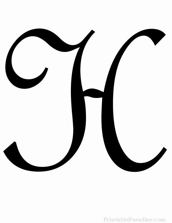 Free Large Printable Letters Elegant Printable Cursive Letters Free Fancy Cursive Letters