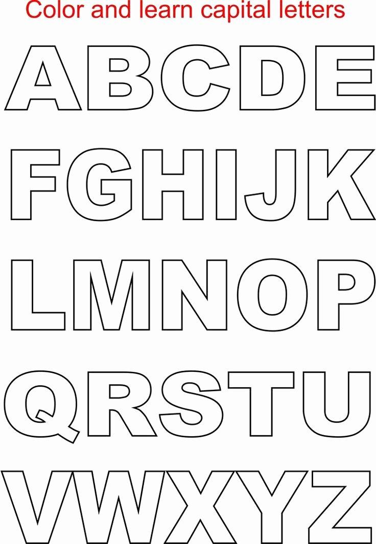 Free Large Printable Letters Unique Best 25 Free Printable Alphabet Letters Ideas On