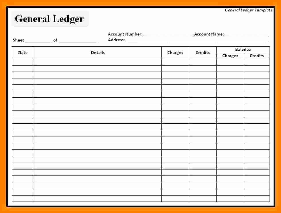 Free Ledger Sheets to Print Inspirational 9 Free General Ledger Templates