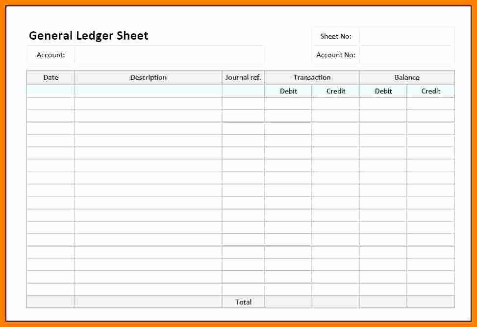Free Ledger Sheets to Print Luxury 13 Bank Ledger Sheet