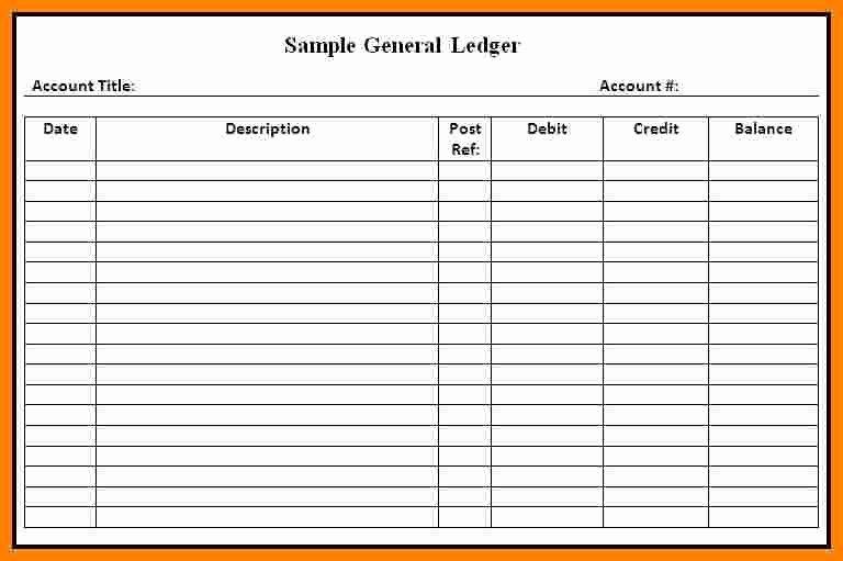 Free Ledger Sheets to Print Unique 7 Printable General Ledger