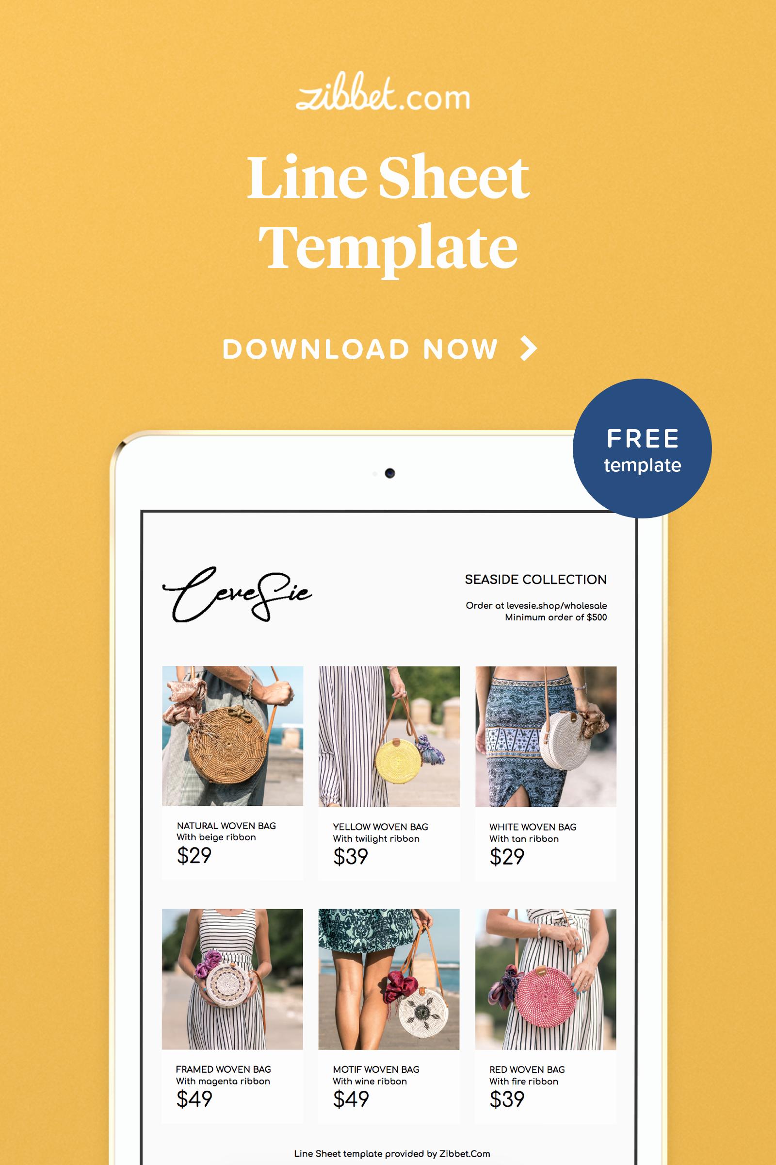 Free Line Sheet Template Inspirational Editable Line Sheet Template Free Printable