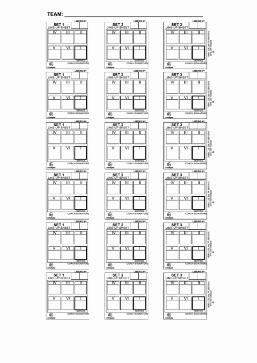 Free Line Sheet Template Lovely Line Up Sheet for Volleyball Okrva Printable Pdf