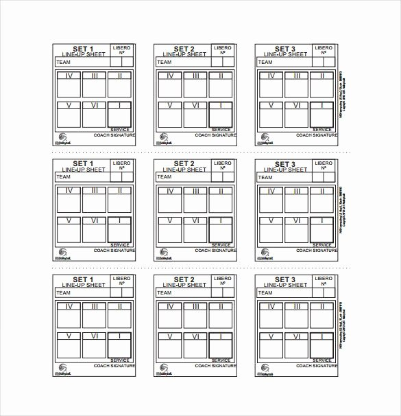 Free Line Sheet Template New Image Result for Blank Volleyball Lineup Sheets Printable