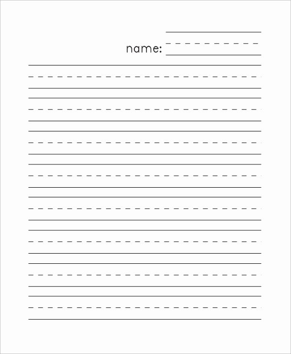 Free Lined Paper for Kindergarten Elegant Sample Lined Paper 7 Documents In Pdf Word