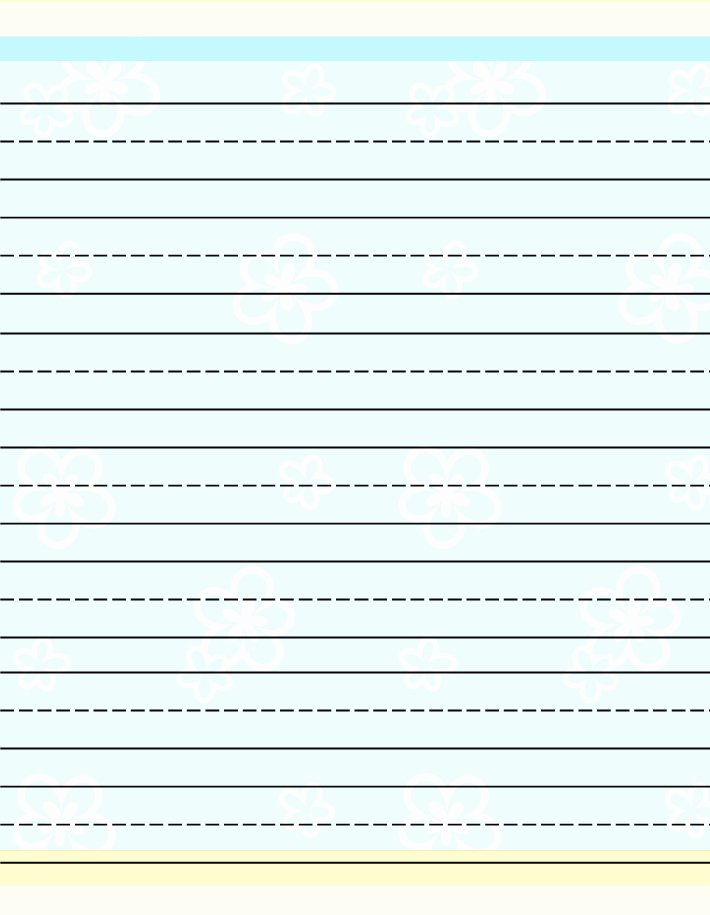 Free Lined Writing Paper Awesome Kids Lined Paper Miscellaneous