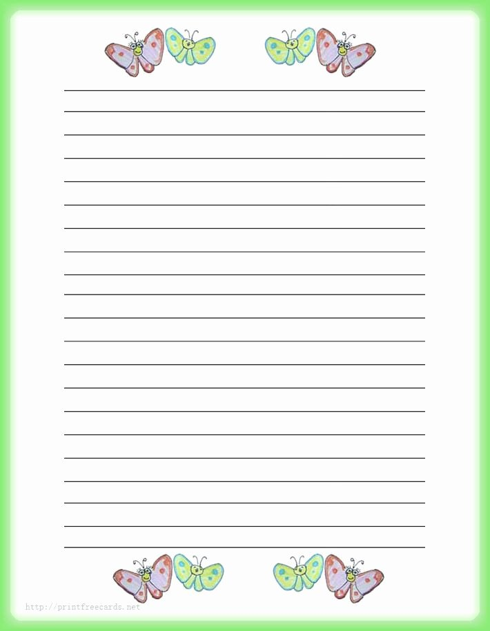 Free Lined Writing Paper Beautiful Stationery Paper