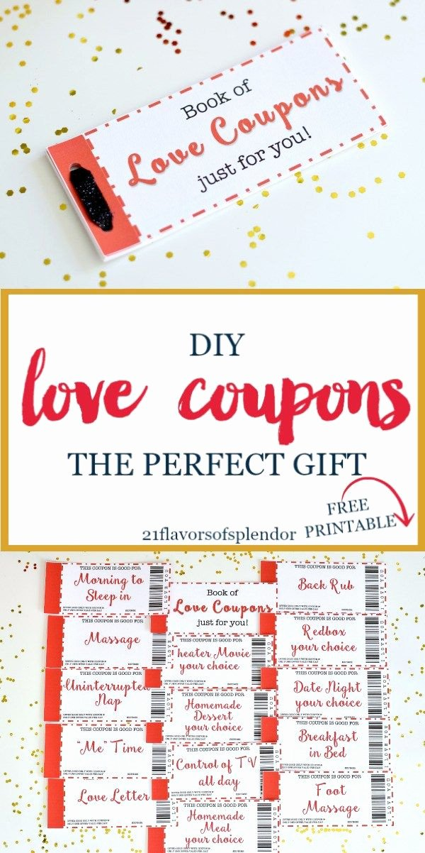 Free Love Coupons for Him Awesome Free Printable Love Coupons the Perfect Gift