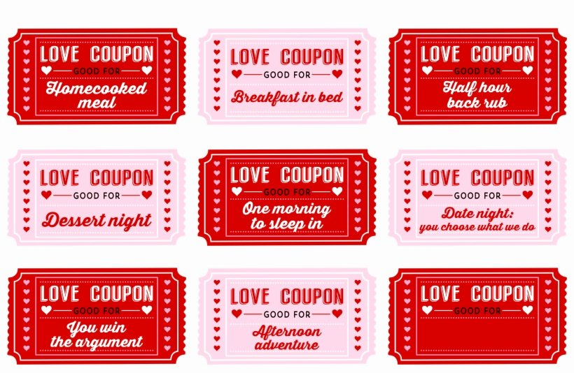 Free Love Coupons for Him Awesome Printable Love Coupons for Him Free Parallel Free