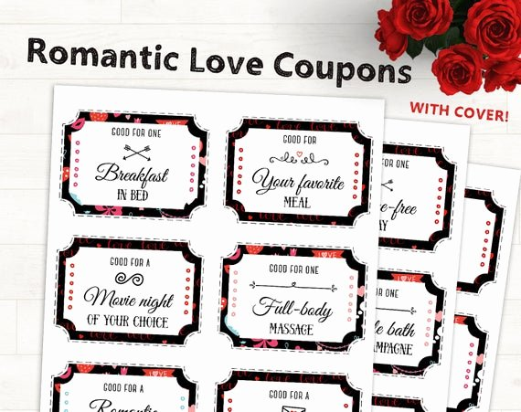Free Love Coupons for Him Awesome Romantic Love Coupons Love Coupons for Him Printable Love