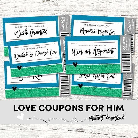 Free Love Coupons for Him Best Of Love Coupons for Him Love Coupons Instant Download