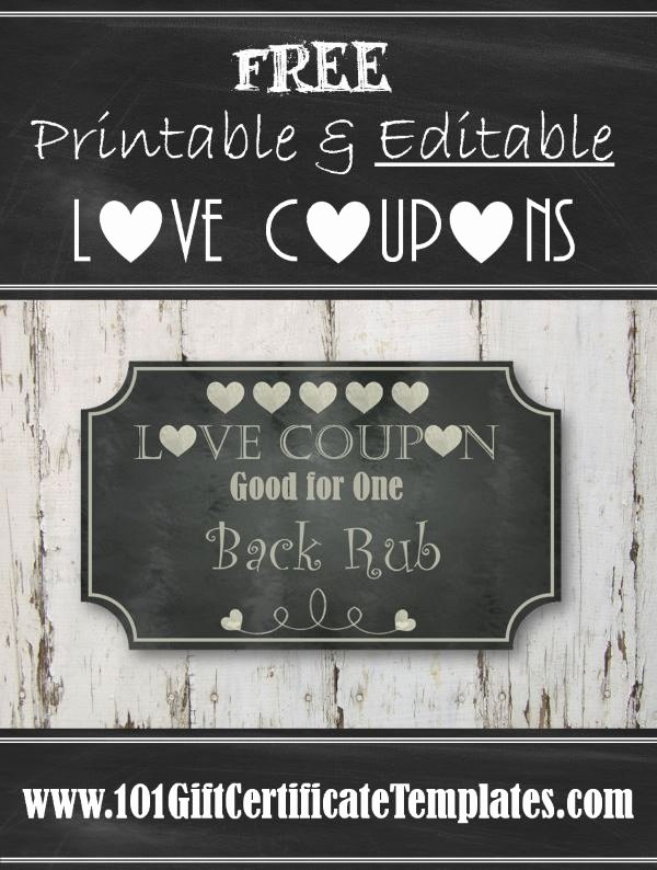 Free Love Coupons for Him Inspirational Free Editable Love Coupons for Him or Her