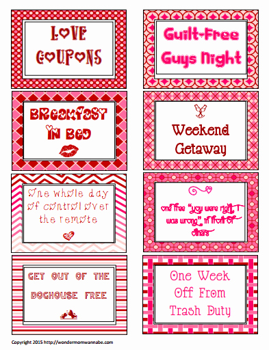 Free Love Coupons for Him Inspirational Free Printable Love Coupons for Valentine S Day