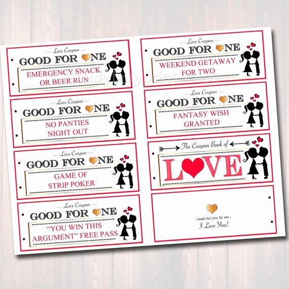 editable love coupon book instant